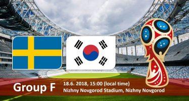 Μουντιάλ 2018 (6ος όμιλος): Σουηδία – Νότια Κορέα