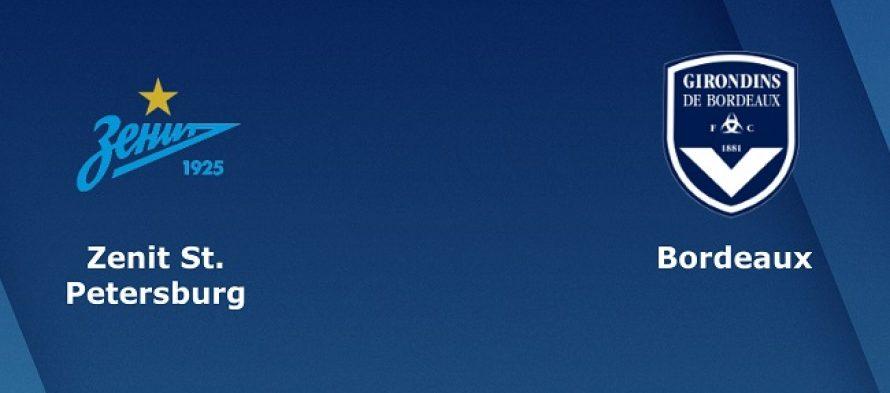 Γιουρόπα Λιγκ 3ος Όμιλος: Ζενίτ-Μπορντό