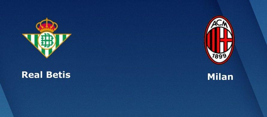 Γιουρόπα Λιγκ 6ος όμιλος: Μπέτις-Μίλαν